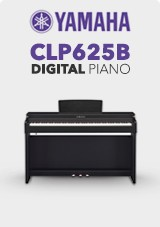 Yamaha CLP625B Digitaalipiano Satiininmusta